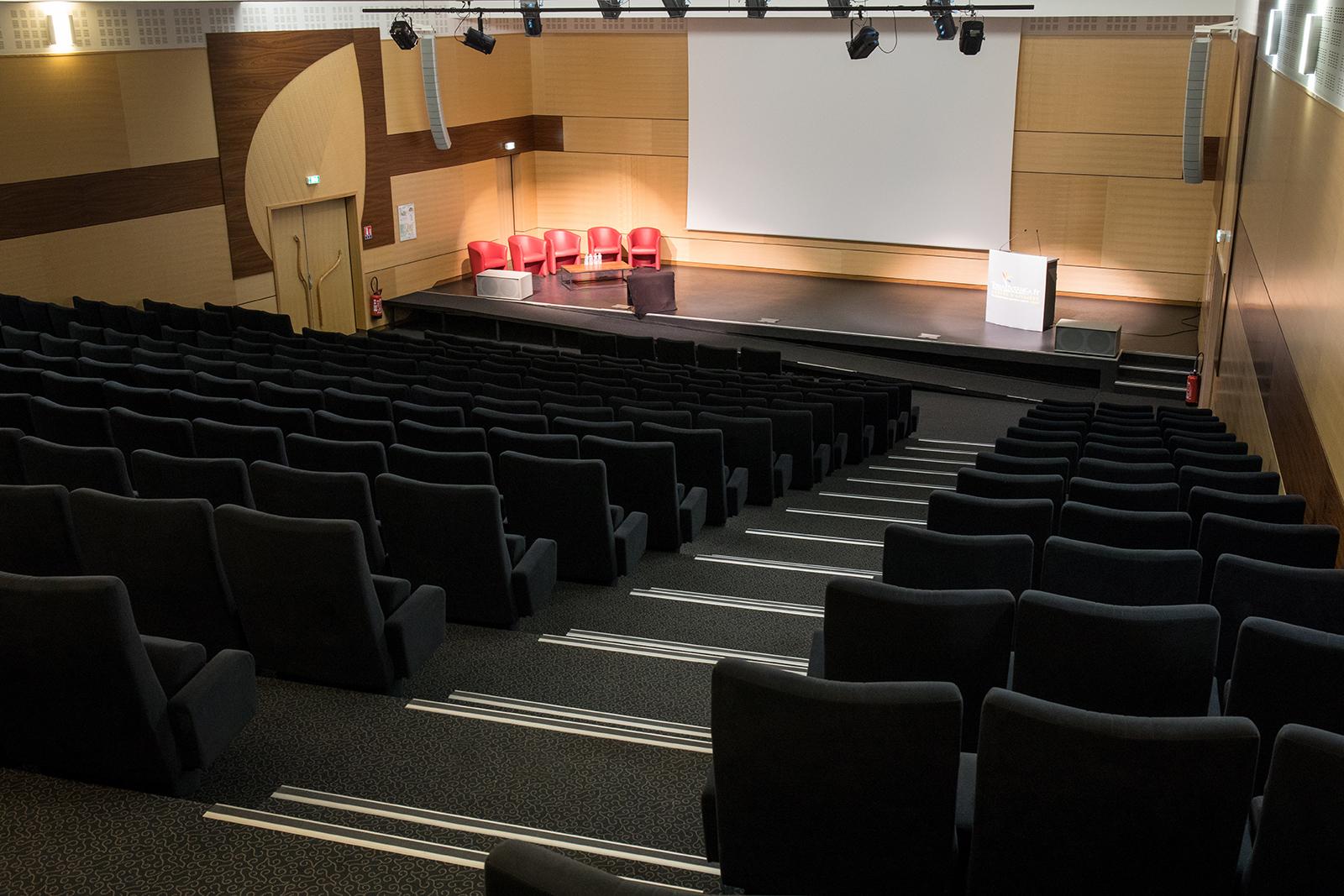 Habillages muraux et menuiseries intérieures de l'Auditorium de Terra Botanica - Maine et Loire