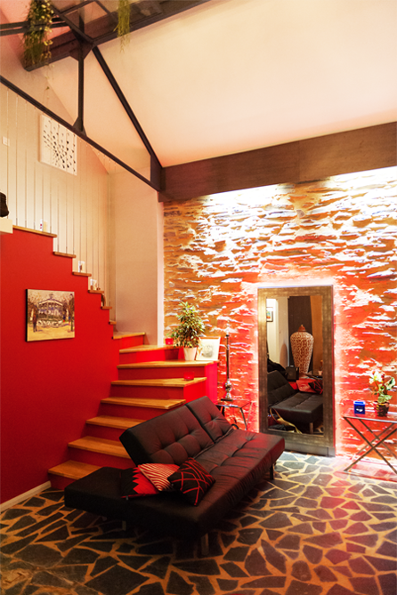 Escalier intérieur d'une maison angevine - Maine et Loire